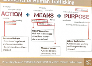Human trafficking 'alive and well' here in Alberta, local   audience hears