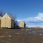 Fishing shacks removed in spite of weak ice on the shoreline