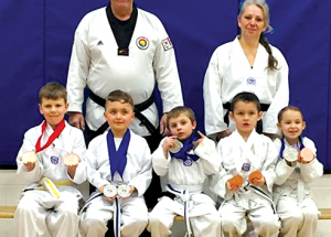Tae kwon do kids enter the ring in Westlock and do well