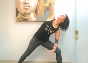 Work on your ankles, knees, legs and more by trying the 'side angle pose'