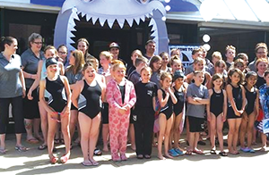 Sharks dominate relays at home meet