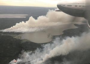 Fire near Hwy. 88 the season's biggest