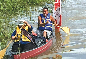 Group paddles down Athabasca to River Rats Festival