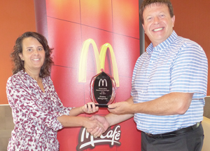 Three-peat for McDonald's manager