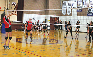Five teams compete in first ever volleyball court classic