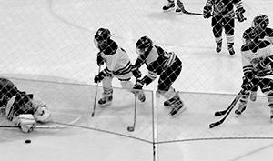 Atom hockey action from Sunday