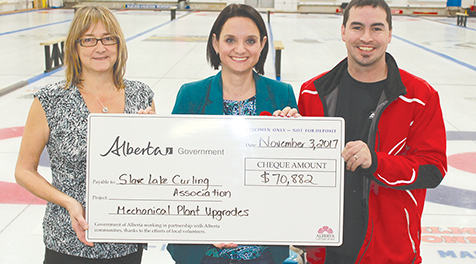Big help for the curling club