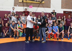 Local company helps out school wrestling team