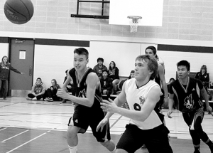 St. Francis Falcons tangle with G.P. Vanier in basketball