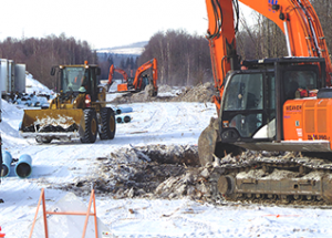 Pipe-fusing, route prep going on for regional water line