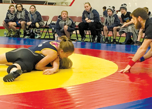 Roland Michener School wrestlers compete at Alberta Winter Games