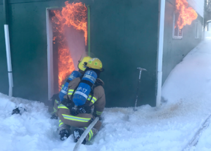 Fire guts Canyon Creek home
