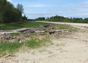 Flood debris a safety hazard, says local resident