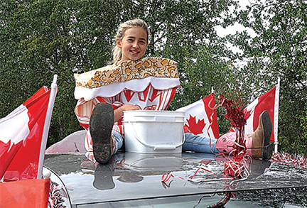 Sea of red and white highlights parade