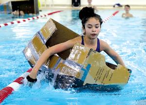 Cardboard boat races!