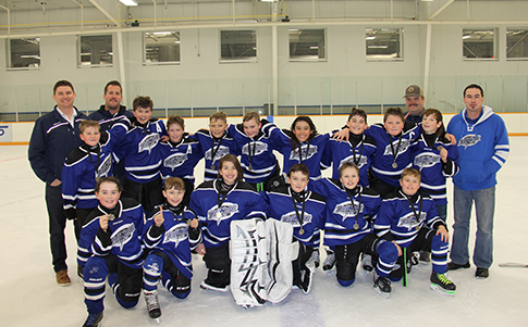 Good experience for Atom teams in home ice tournament