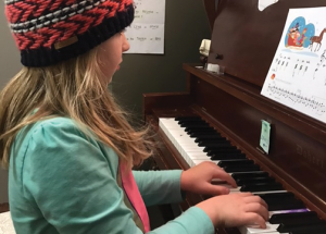 Music lessons keeping local woman on her toes