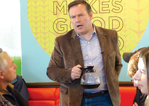 Coffee, bannock and politics: UCP leader swings by