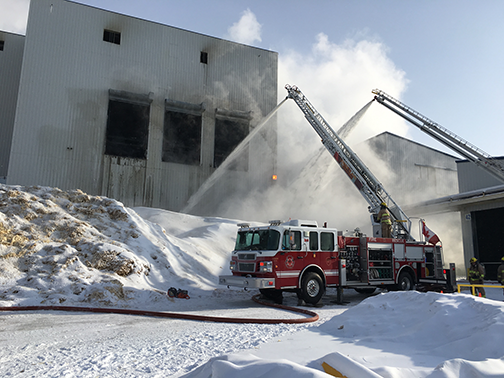 Another mill fire; this time at Tolko