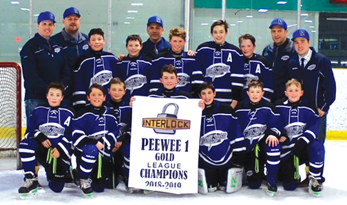 Pee Wees win their league: hosting provincials next