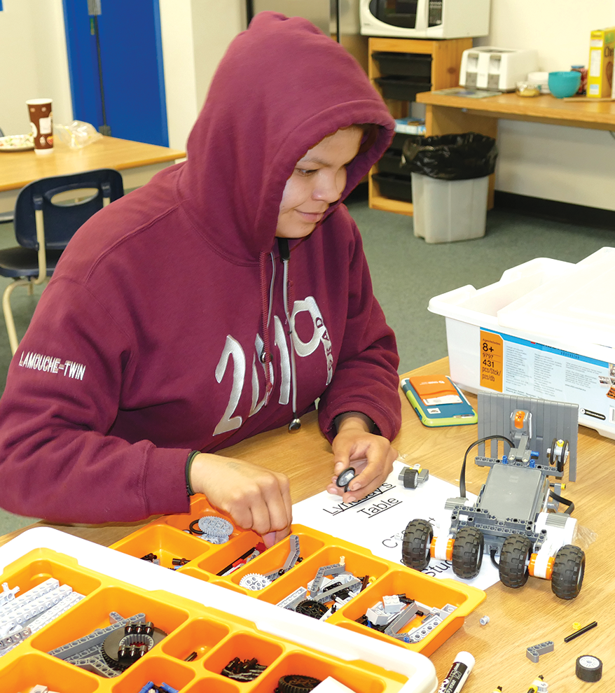 0f4996447 Slave Lake Outreach School student, Breanna Laboucan builds a robot for the  Robo Rumble in High Prairie on Monday May 13. Various Slave Lake schools ...