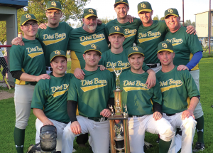 Dirt Bags win third straight men's league title