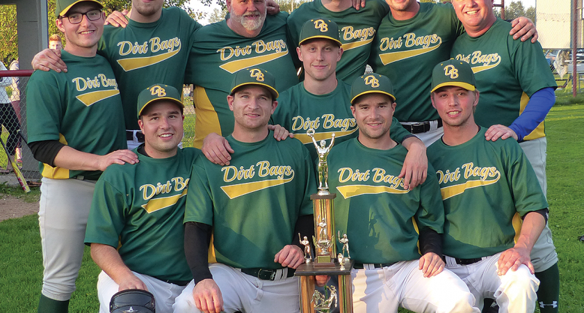 Dirt Bags win third straight men's league title