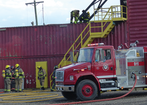 All suited up: college firefighting course held here