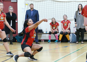 Falcons lead junior high volleyball league