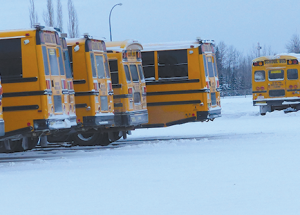 Idling not good for buses or the air