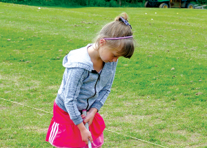 Not too young to golf