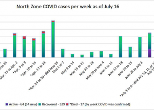 COVID Weekly: One new death & 410 total cases
