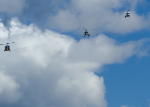 Fly-past for Mr. Rosche